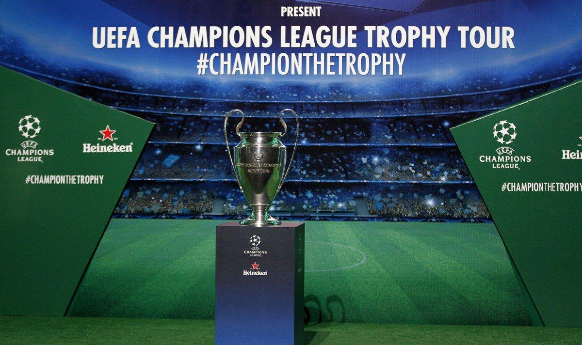 El Trophy Tour de la Champions League visitó Puebla
