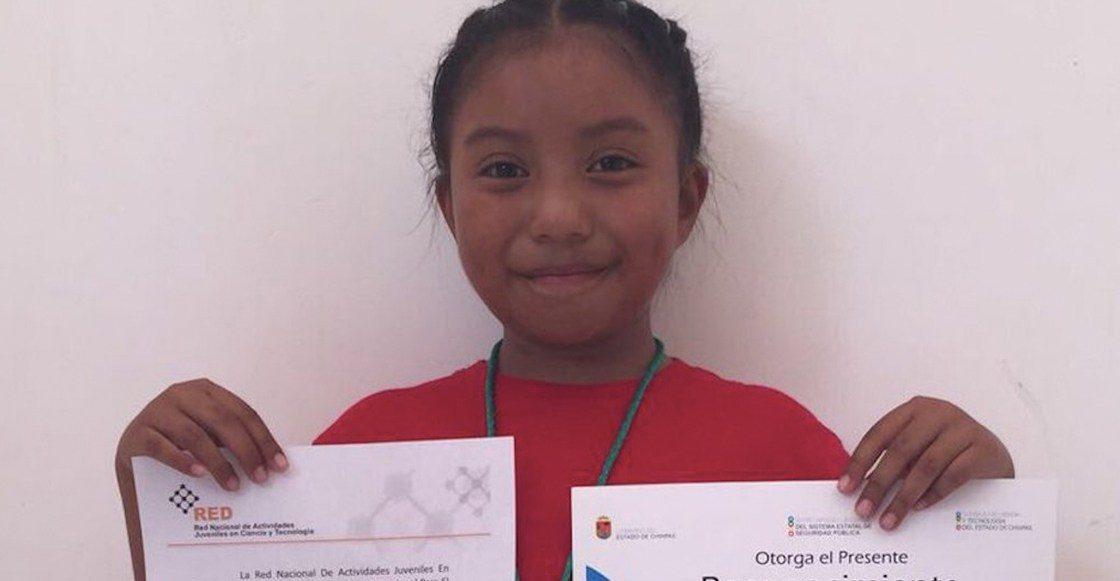 Una pequeña de 8 años es la primera en recibir premio de Ciencia Nuclear en México