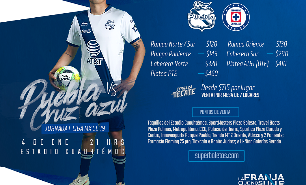 Puebla VS Cruz Azul: Clausura 2019