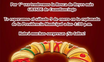 Rosca de Reyes en Cuautlancingo, Puebla