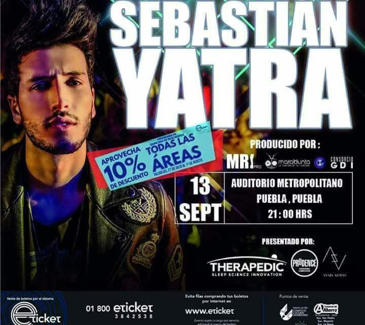 Sebastián Yatra en Puebla